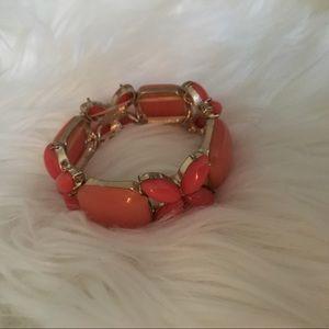 Great bracelet gold/salmon pink